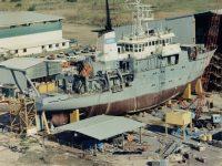 CSIRO ORV Franklin under construction 1984