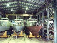 Fremantle Class Patrol Boats under construction