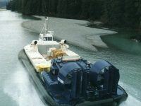 Hoverfreighter operating on a Canadian River