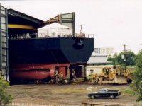 Port of Brisbane Hopper Suction Dredge 'Brisbane' in workshop 1999
