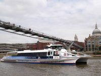 River Runner Sun Clipper on Thames River, London